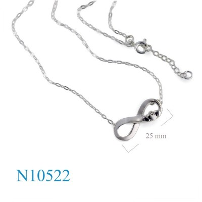 Necklace, 16+1 inches Claddagh + infinity design.