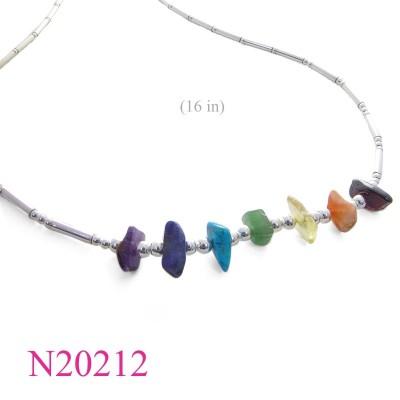 Stone Necklace, 7 colours stones.