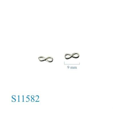 Earrings, 8mm infinity